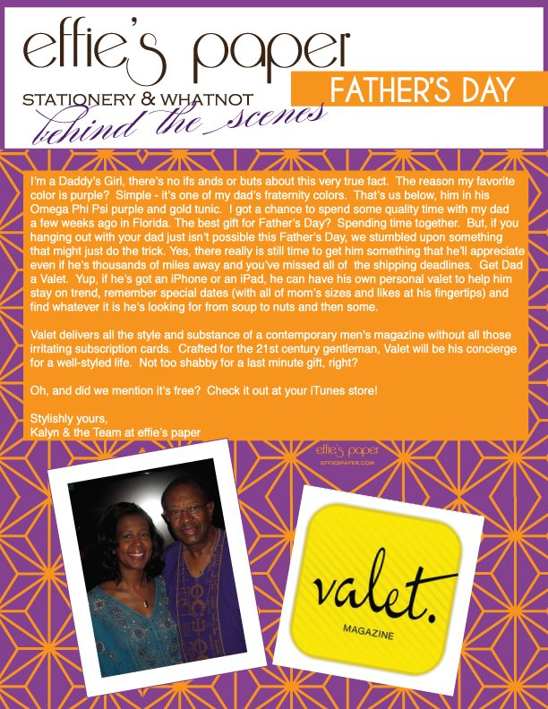 effie's paper, Kalyn Johnson Chandler, Kalyn Johnson, Father's Day, stationery, stationary, STYLE by Kalyn Johnson, Possess Your STYLE
